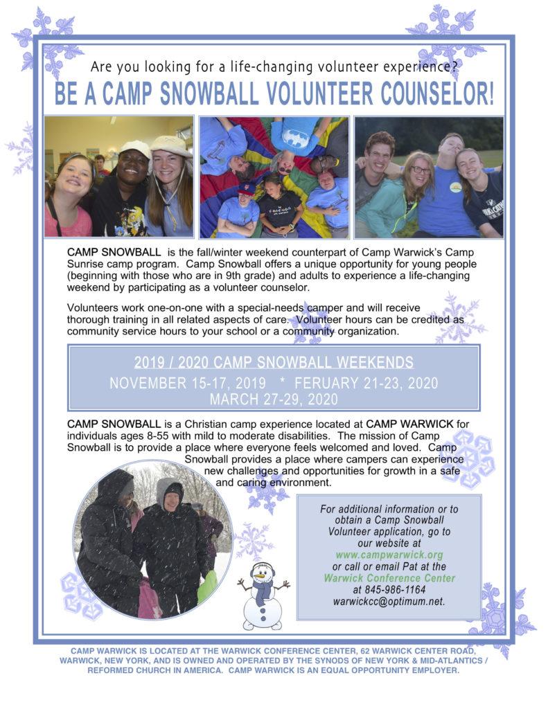 Camp Snowball Volunteer